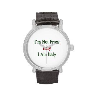 No soy de Italia que soy Italia Reloj De Mano