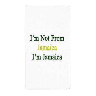No soy de Jamaica que soy Jamaica Etiqueta De Envío