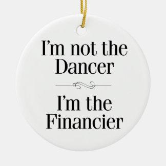 No soy el bailarín adorno navideño redondo de cerámica