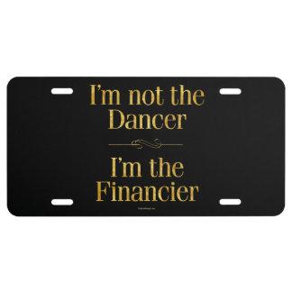 No soy el bailarín placa de matrícula