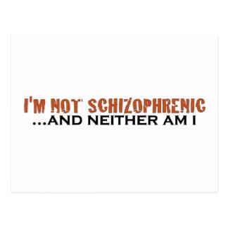 No soy esquizofrénico tarjetas postales