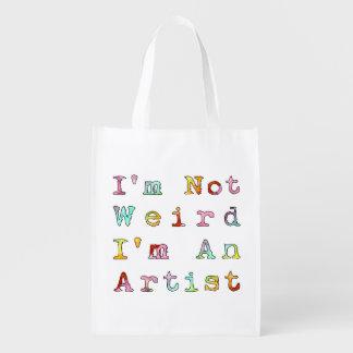 No soy extraño, yo soy artista bolsas reutilizables