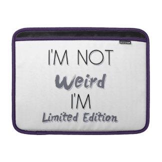 No soy extraño, yo soy edición limitada - cita fundas MacBook