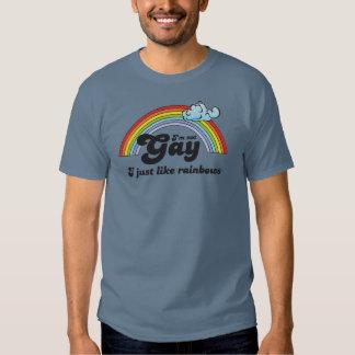 No soy GAY. APENAS TENGO GUSTO DE LOS ARCO IRIS Playera