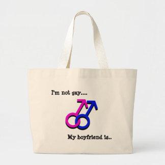 No soy gay…., Mi novio es… Bolsas De Mano