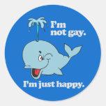 No soy GAY. Soy APENAS FELIZ Pegatina