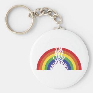 No soy gay, yo apenas tengo gusto de los arco iris llavero redondo tipo pin