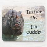 No soy gordo alfombrillas de ratones