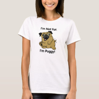 No soy gordo. ¡Soy Puggy! ¡Camiseta linda del Playera