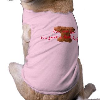 No soy gordo yo soy apenas un poco fornido playera sin mangas para perro