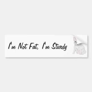 No soy gordo, yo soy robusto pegatina para auto