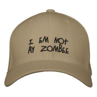 """""""No soy gorra de un zombi"""" Gorra De Béisbol Bordada"""