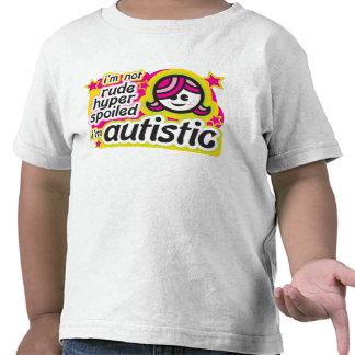 No soy grosero híper estropeado… Soy autístico Camisetas