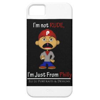 No soy grosero, yo soy apenas de caso del iPhone Funda Para iPhone 5 Barely There