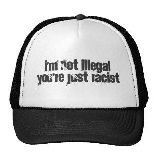 No soy ilegal usted soy apenas racista gorros bordados