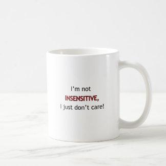 No soy insensible taza de café