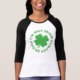 No soy irlandés - béseme de todos modos el día de camiseta