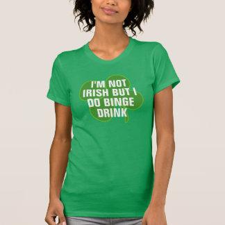 No soy irlandés sino que voy de borrachera la playeras