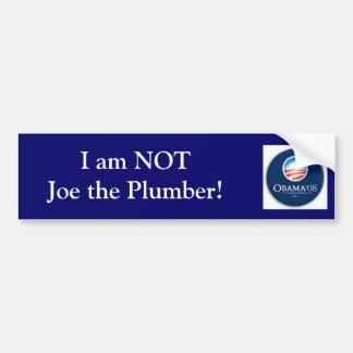 No soy Joe el fontanero Etiqueta De Parachoque