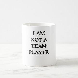 No soy jugador de equipo taza