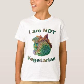 No soy la camiseta de los niños vegetarianos