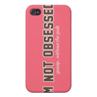 No soy logotipo obsesionado iPhone 4 carcasa