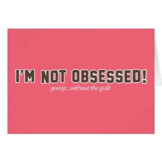 No soy logotipo obsesionado tarjeta de felicitación