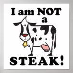 No soy los derechos de los animales de un filete impresiones