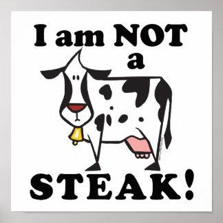 No soy los derechos de los animales de un filete póster