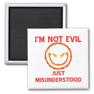 No soy malvado apenas entendido mal imán para frigorífico