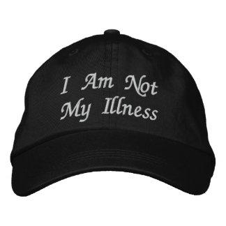 No soy mi enfermedad gorra de beisbol bordada