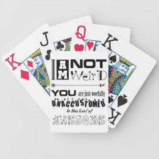 No soy naipes extraños cartas de juego