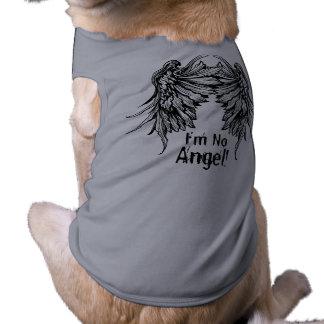 ¡No soy ningún ángel! Camiseta coa alas del perro Playera Sin Mangas Para Perro
