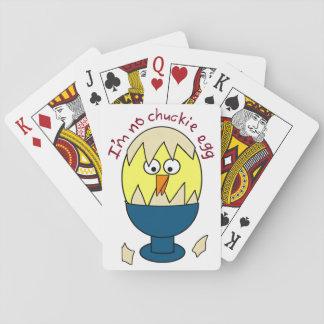 No soy ningún humor del huevo de Chuckie Cartas De Póquer
