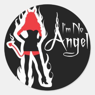 No soy ningún pegatina del negro del ángel