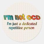 No soy OCD… Etiqueta Redonda