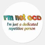 No soy OCD… Pegatina Redonda