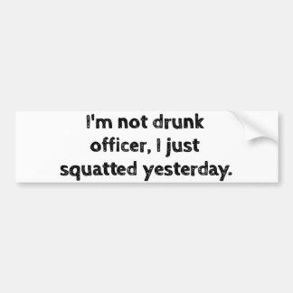 No soy oficial borracho, yo acabo de ponerse en pegatina para auto