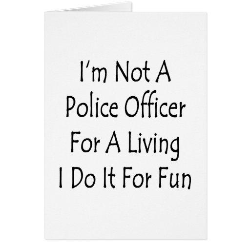 No soy oficial de policía para la vida de A que la Tarjeta Pequeña