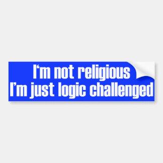 No soy pegatina para el parachoques religiosa pegatina de parachoque