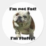 No soy pegatinas gordos del dogo pegatina redonda