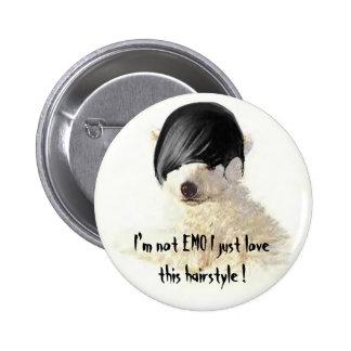¡No soy peinado de los lovethis de EMO I apenas! Pin Redondo 5 Cm