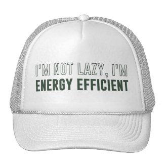 No soy perezoso yo soy económico de energía gorros