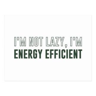 No soy perezoso yo soy económico de energía tarjetas postales