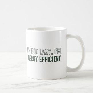 No soy perezoso yo soy económico de energía taza de café