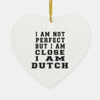 No soy perfecto sino que soy cierre que soy adorno de cerámica en forma de corazón
