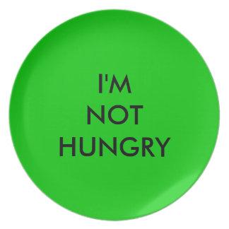 No soy placa hambrienta para los vigilantes del pe plato de cena