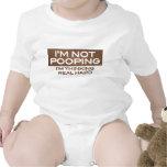 No soy Pooping que estoy pensando duro real Traje De Bebé