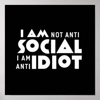 No soy poster inspirado social anti