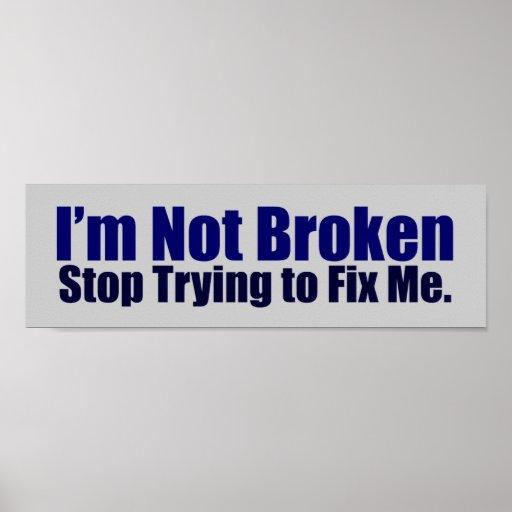 No soy poster quebrado
